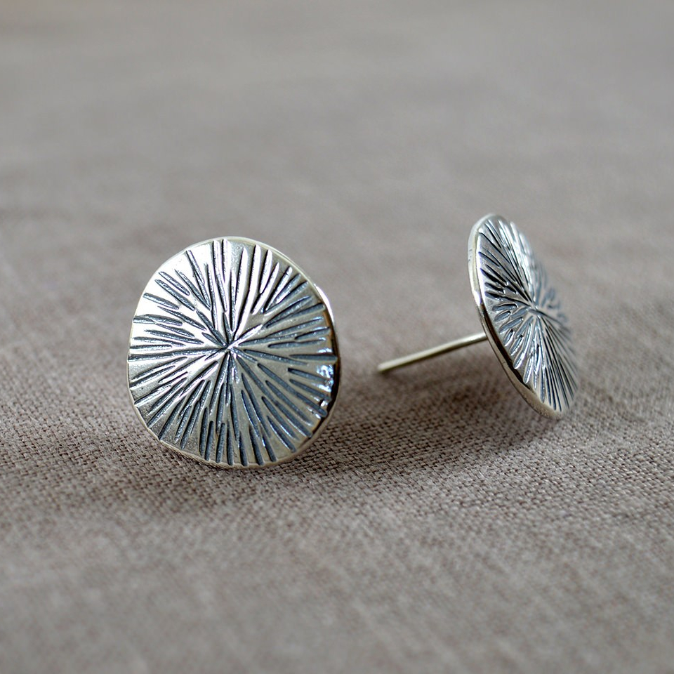 Recycled sterling silver earrings.